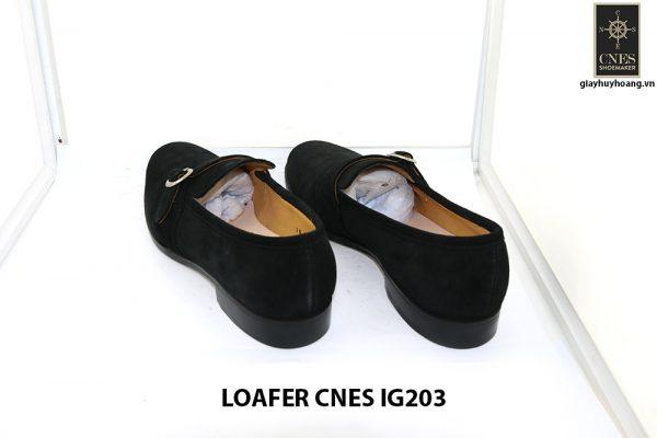 [Outlet Size 41] Giày lười nam da lộn màu đen Loafer Cnes IG203 004