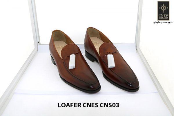 [Outlet size 41] Giày lười nam nâng chiều cao loafer Cnes CNS03 001