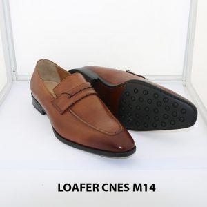 [Outlet size 42] Giày lười nam mũi vuông loafer Cnes M14 003