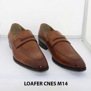[Outlet size 42] Giày lười nam mũi vuông loafer Cnes M14 001