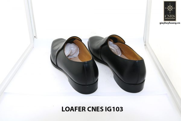 [Outlet size 42] Giày lười nam màu đen loafer Cnes IG103 004