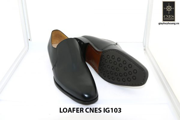 [Outlet size 42] Giày lười nam màu đen loafer Cnes IG103 003