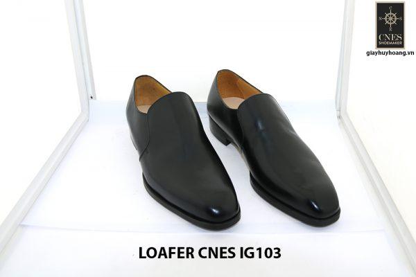 [Outlet size 42] Giày lười nam màu đen loafer Cnes IG103 001