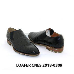 [Outlet] Giày lười nam vân cá sấu Loafer Cnes 0309 004