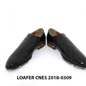 [Outlet] Giày lười nam vân cá sấu Loafer Cnes 0309 003