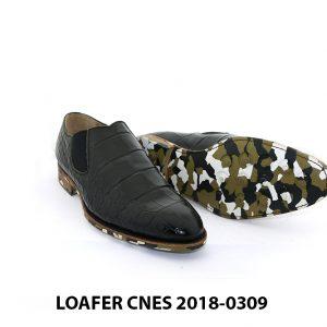 [Outlet] Giày lười nam vân cá sấu Loafer Cnes 0309 002