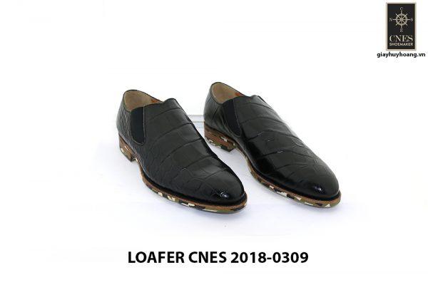 [Outlet] Giày lười nam vân cá sấu Loafer Cnes 0309 001