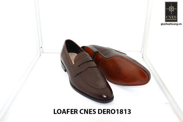 [Outlet size 41] Giày lười nam đỏ đô loafer Cnes DERO1813 003