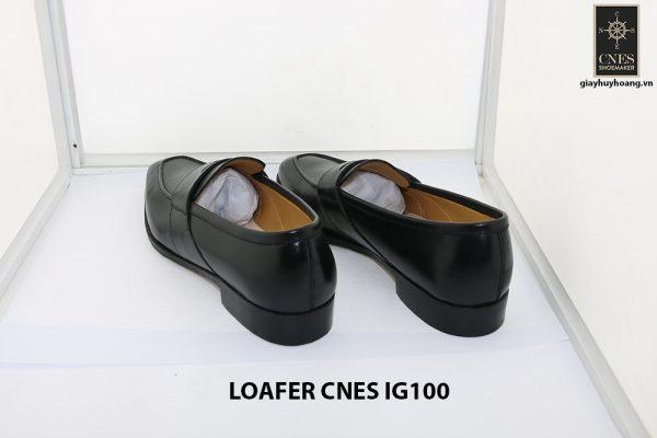 [Outlet size 42] Giày lười nam màu đen loafer Cnes IG100 004