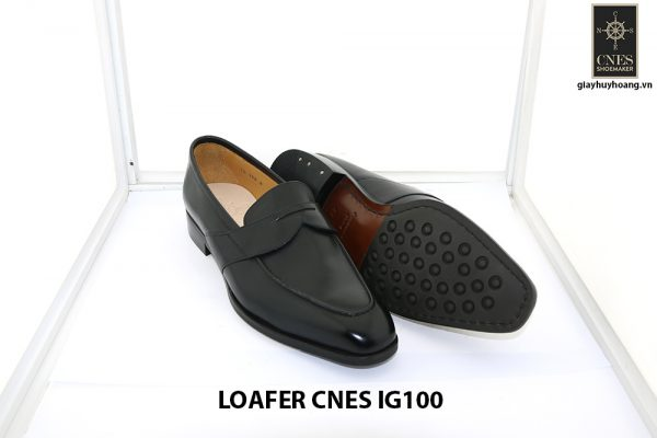 [Outlet size 42] Giày lười nam màu đen loafer Cnes IG100 003