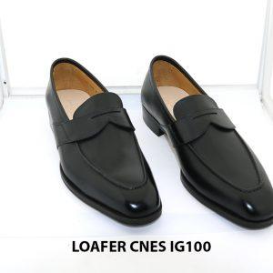 [Outlet size 42] Giày lười nam màu đen loafer Cnes IG100 001