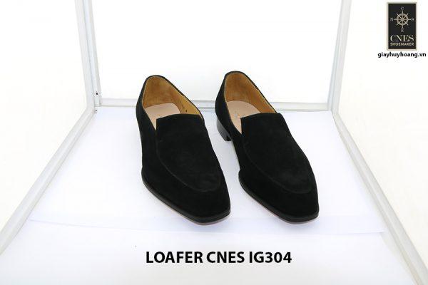 [Outlet Size 42] Giày lười nam da lộn loafer Cnes IG304 001