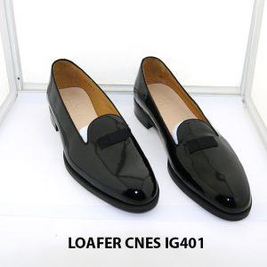 [Outlet 38+41+43] Giày lười nam da bóng loafer Cnes IG401 001