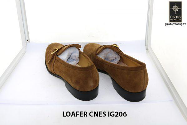 [Outlet Size 41] Giày lười nam da lộn 1 quai Loafer Cnes IG206 004