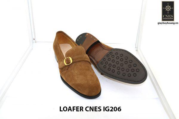 [Outlet Size 41] Giày lười nam da lộn 1 quai Loafer Cnes IG206 003