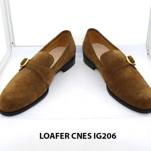 [Outlet Size 41] Giày lười nam da lộn 1 quai Loafer Cnes IG206 002