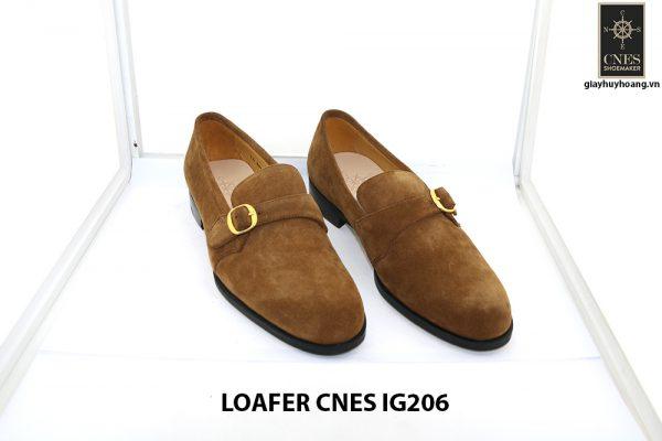 [Outlet Size 41] Giày lười nam da lộn 1 quai Loafer Cnes IG206 001