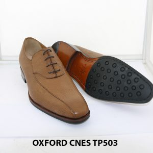 [Outlet size 43] Giày da nam da hột cao cấp Oxford Cnes TP503 003