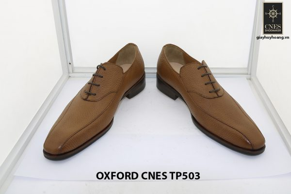 [Outlet size 43] Giày da nam da hột cao cấp Oxford Cnes TP503 002