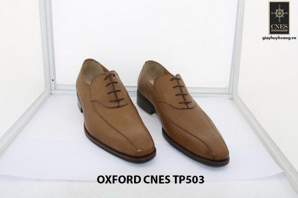 [Outlet size 43] Giày da nam da hột cao cấp Oxford Cnes TP503 001