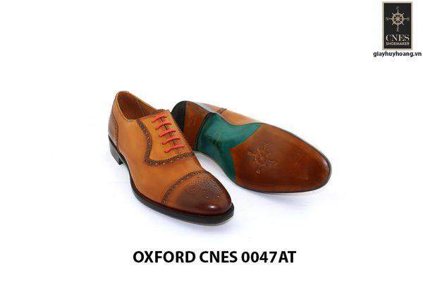 [Outlet size 41] Giày tây nam toả sáng Oxford Cnes 0047AT 003