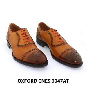 [Outlet size 41] Giày tây nam toả sáng Oxford Cnes 0047AT 001