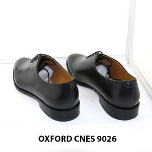 [Outlet Size 43] Giày tây nam đen wholecut Oxford Cnes 9026 004