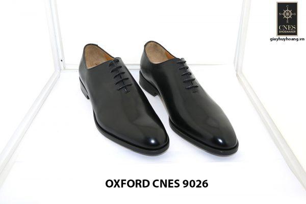 [Outlet Size 43] Giày tây nam đen wholecut Oxford Cnes 9026 001