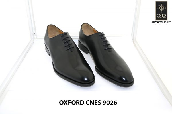 [Outlet size 43] Giày da nam không hoạ tiết Oxford Cnes 9026 001