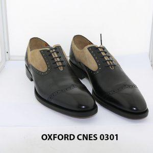 Giày tây nam phối da lộn Oxford Cnes 0301 001