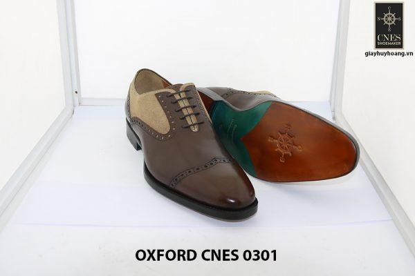 Giày tây nam phối da lộn Oxford Cnes 0301 005