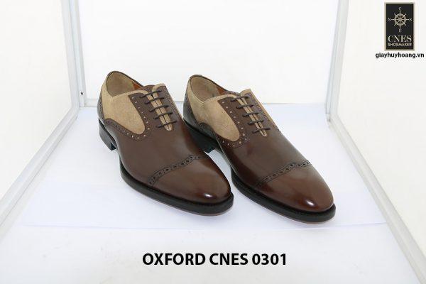 Giày tây nam phối da lộn Oxford Cnes 0301 004