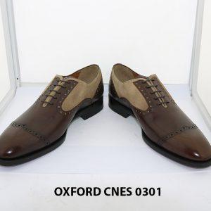 Giày tây nam phối da lộn Oxford Cnes 0301 003