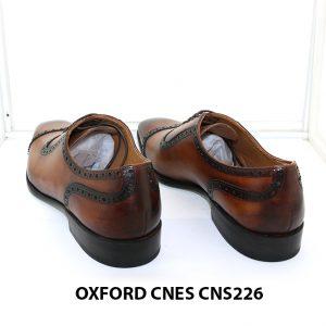 Giày tây nam đánh patina Oxford Cnes CNS226 004