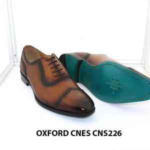 Giày tây nam đánh patina Oxford Cnes CNS226 003