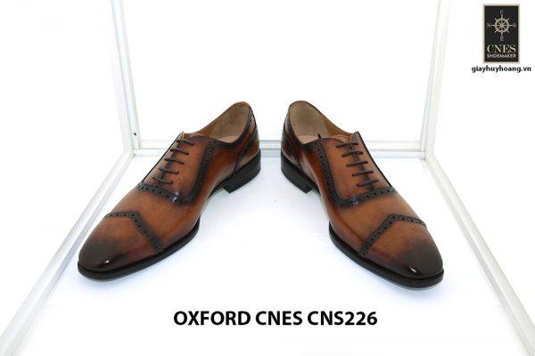 Giày tây nam đánh patina Oxford Cnes CNS226 002