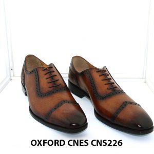 Giày tây nam đánh patina Oxford Cnes CNS226 001