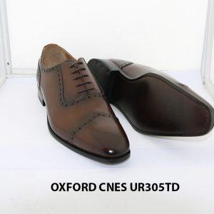 [Outlet size 42] Giày tây nam captoe Oxford Cnes UR305td 003