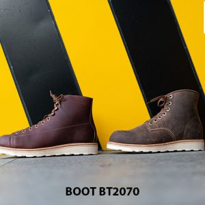 Giày da nam buộc dây cổ cao thời trang BT2070 004