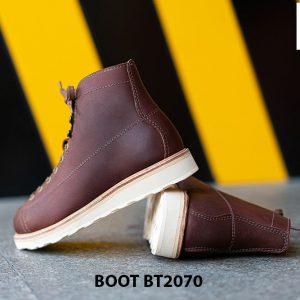 Giày da nam buộc dây cổ cao thời trang BT2070 001