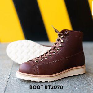 Giày da nam buộc dây cổ cao thời trang BT2070 003
