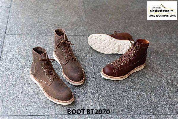 Giày da nam buộc dây cổ cao thời trang BT2070 002