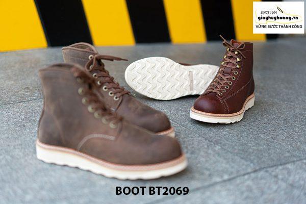 Giày Boot buộc dây nam da lộn đế bằng cao cấp BT2069 006