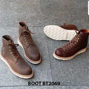 Giày Boot buộc dây nam da lộn đế bằng cao cấp BT2069 005