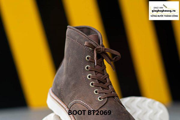 Giày Boot buộc dây nam da lộn đế bằng cao cấp BT2069 004