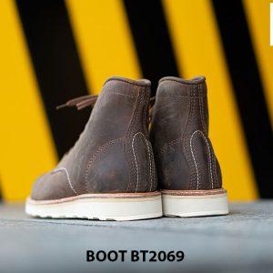 Giày Boot buộc dây nam da lộn đế bằng cao cấp BT2069 003