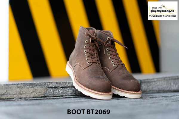 Giày Boot buộc dây nam da lộn đế bằng cao cấp BT2069 001