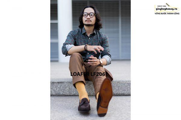 Giày lười nam có chuông da lộn Tassel Loafer LF2061 004
