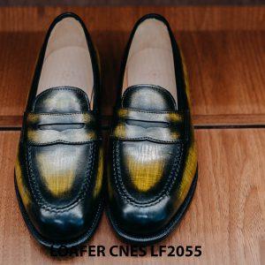 Giày không dây nam đánh Patina Penny Loafer LF2055 001