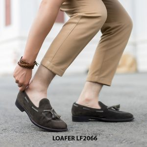 Giày lười nam da lộn phong cách Tassel Loafer LF2066 006